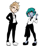 Suits you sprites by LunaBell