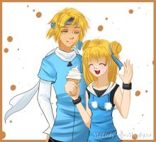 :AT: Minako and Riruko by Melody-Musique