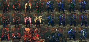 USFIV Asura Wrath's combo pack by monkeygigabuster