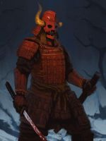 the sadistic samurai commission by EdwardDelandreArt