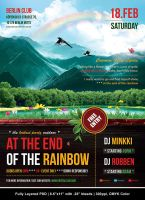 At The End Of The Rainbow Flyer by Minkki2fly