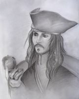 Capt. Jack Sparrow by shadowpaintedwhite