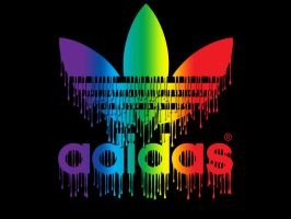 Adidas Spectrum Paint Drips by DomiciliumSolis