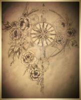 Compass Tatto Design Series part 2 WIP by Salix-Tree