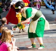 Toph Dragon Con Parade 2013 by witchiamwill