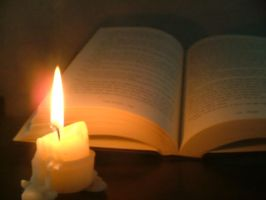 Candle and Book by AngelicAzriel