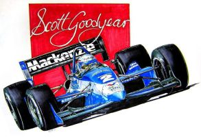 Scott Goodyear by ferrariartist