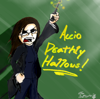 ACCIO DEATHLY HALLOWS by Depsycho