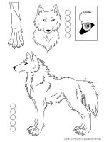 Wolf character Lineart by tachilotl