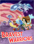 Bravest Warriors Vintage SciFi Poster by lyssaspex