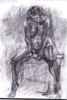 Charcoal study by Silphes