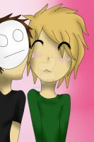Pewds And Cry ~* Kissy Kissy .3.*~ by PuppetlessDoll