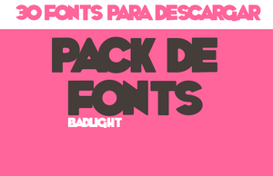 *Pack de fonts* by BadLight