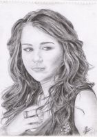 miley cyrus sketch by rayjaurigue