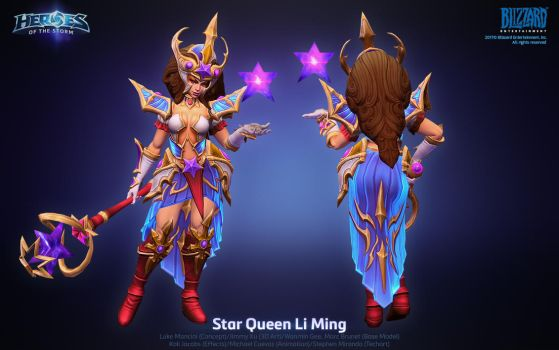 Hots Star Queen Li Ming by ArtDoge