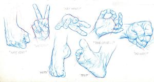 MODEL SHEET HANDS AND FEETS by AbdonJRomero