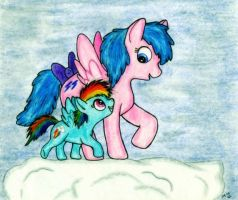 Firefly and Rainbow Dash by wahyawolf