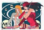 Women of Marvel - Dagger and Elektra by KerrithJohnson