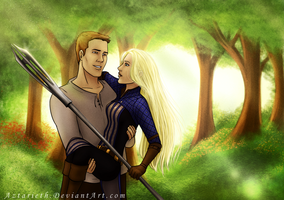 Art Trade Alistair and Amell by Aztarieth