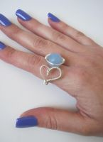 Chalcedony heart ring by BunnySuitDriver
