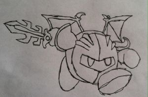 Meta Knight (Doodle) by Konggers