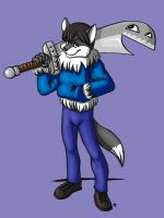 Ryo and His Awesome Sword by FlyingRam