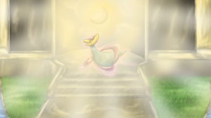 Cresselia and the Yellow Gem by Cinnamon-Quails