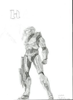 concept Halo5 cover-sketch- #1 by Anythingguy
