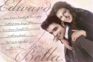 Bella and Edward Wallpaper by TheSearchingEyes