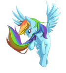 rainbow dash by Rosurin