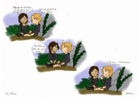 THG Fan Art - Shut up ! by Miiiiiiimi