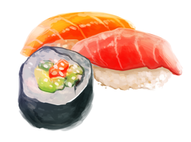 Sushi speed paint by bylacey