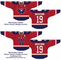 Washington Capitals Winter Classic Jersey Redesign by MichaelLinkJr