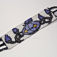 Chandelure 1.5 inch Friendship Bracelet by CarrieBea