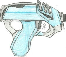 Quarian Shan'Dara SMG (Anti-Synthetic SMG RD) by Chigiri16