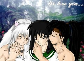 We love you Kagome chan by valdrianth