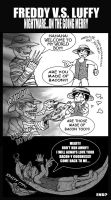 FREDDY VS LUFFY by sarahmandrake