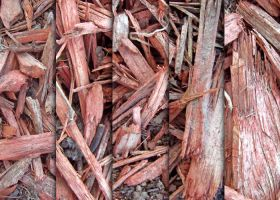 Red Wood Chip Textures by sdwhaven
