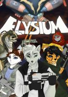 Elysium cover book / Commission by katagro