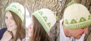 Knit Ordon Village Triforce Hat by kateknitsalot