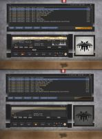 Quinto Black Winamp skin by winampers-pro