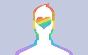 Facebook Profile Pic - Male Rainbow by AlienSquid