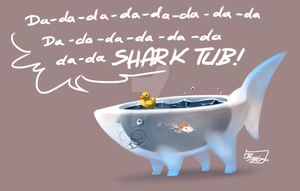 Shark Tub by MadCookiefighter