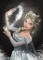 Elsa from colorbook by AlutArt