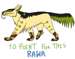 rawr for points 2 closed by CaptainDashund