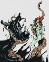 Batman vs. Poison Ivy  Color by Graymalkin2112