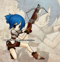 girl pose with crossbow by VRES