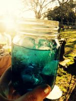 .blue drink. by taintedxblissx