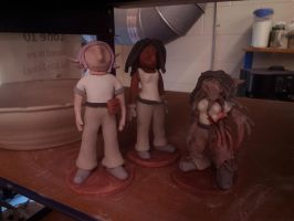 Ceramic 3 Project: Jax, Franky and a Death Stalker by ownerfate