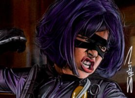 Hit Girl Sketch Card by RandySiplon